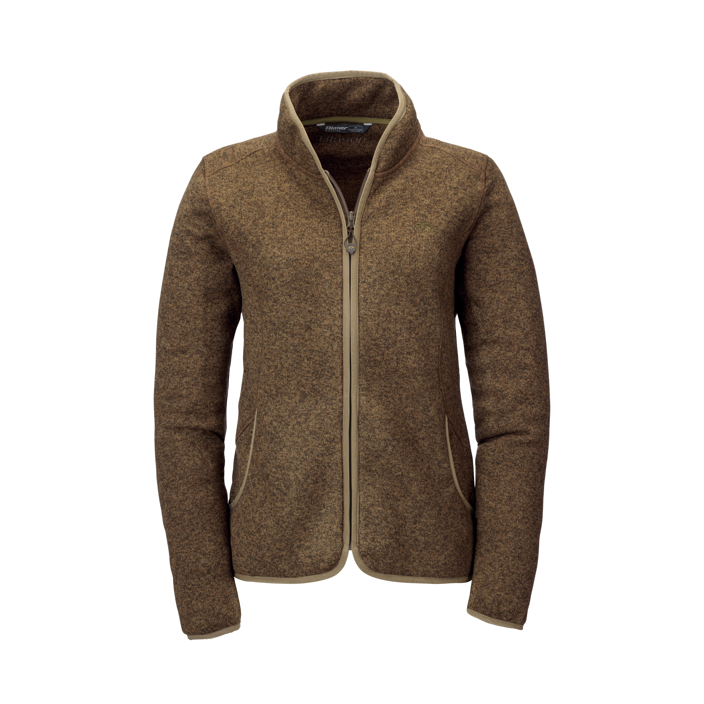 Bettina - Fleece Jacket - Brown Mélange